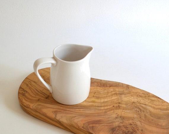 Vintage Small White Ceramic Pitcher