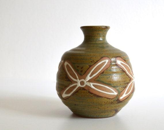 Vintage Stoneware Weed Pot