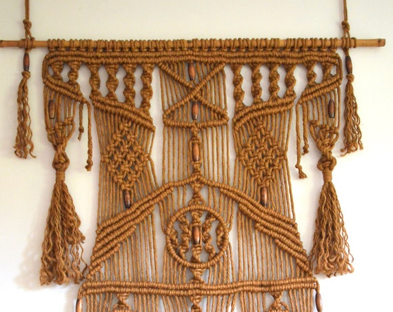 RESERVED for C * Vintage Macrame Wall Hanging