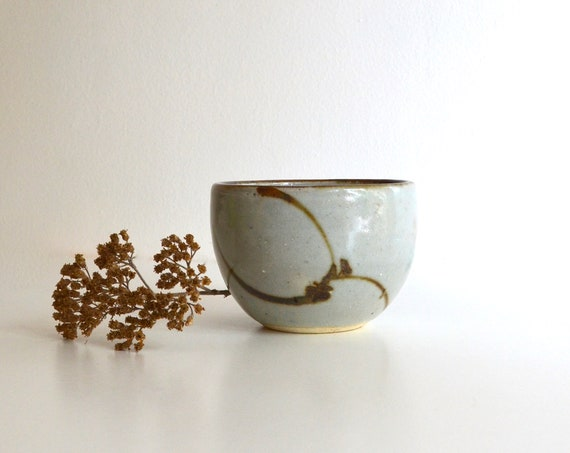 Vintage Grey Ceramic Japanese Tea Bowl
