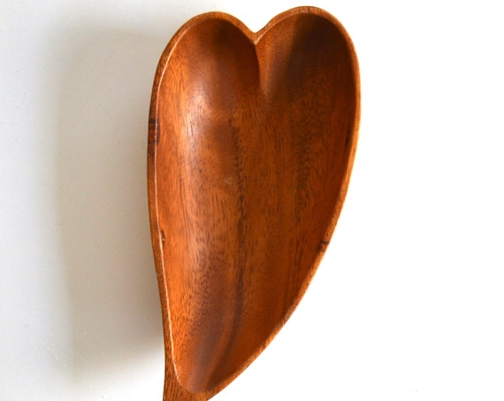 Vintage Wood Heart Shaped Tray