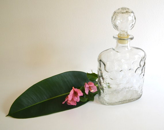 Vintage Clear Old Schenley Glass Decanter