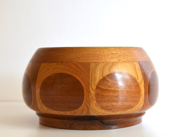 Vintage Wood Inlay Bowl