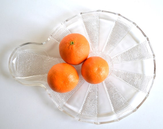 Mid Century Glass Snack Tray