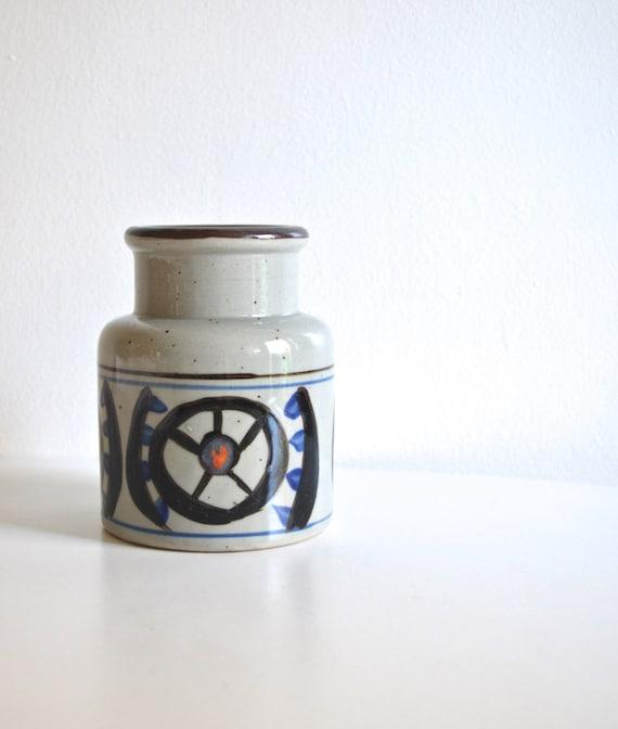 Vintage National Silver Company Genuine Stoneware Vase