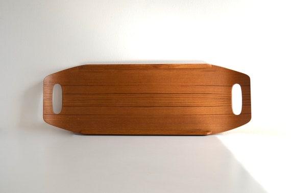 Vintage Laminated Teakwood Tray by Coronet