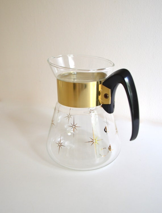 Mid Century Corning Heat Proof Glass Coffee Server