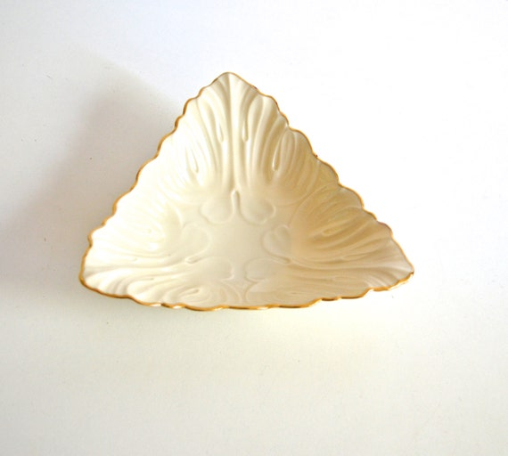 Vintage Lenox Triangle Candy Dish