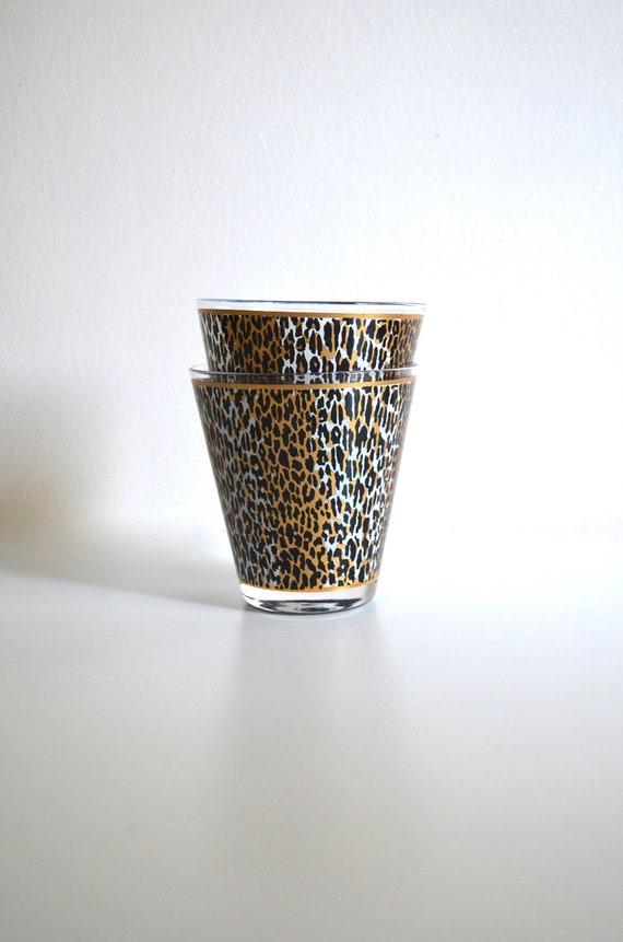 Pair of Vintage Leopard Print Glasses by Culver Ltd