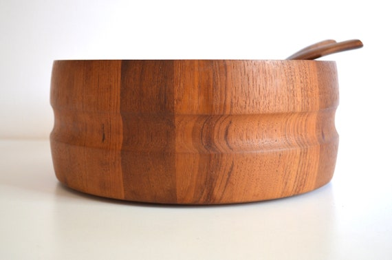 Mid Century Dansk Staved Teak Wood Salad Bowl