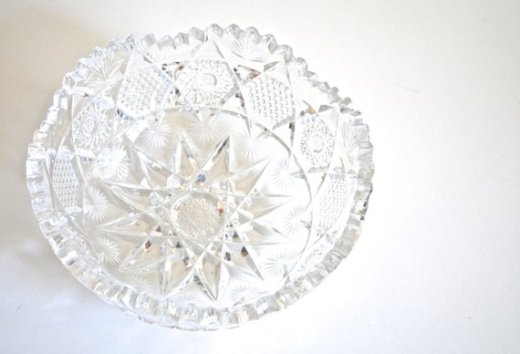 Vintage American Brilliant Cut Glass Bowl