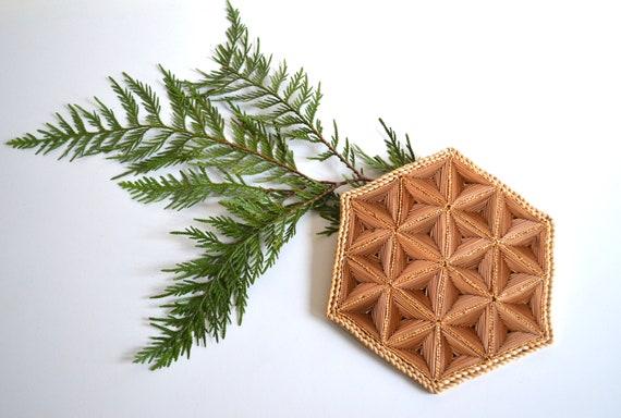 Vintage Woven Straw Star Trivet