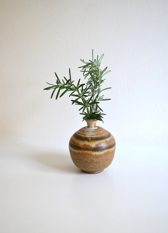 Vintage Small Stoneware Weed Pot