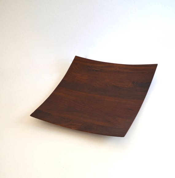 Mid Century Square Wood Tray
