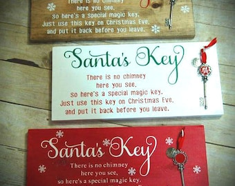 Santa's Magic Key signs with PERSONALIZED key your choice of sign