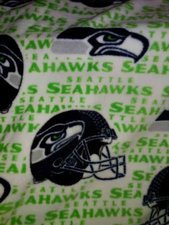Custom Football Blanket Seahawks Baby Blanket Personalized Seattle Seahawks Fleece and Minky Baby Blanket