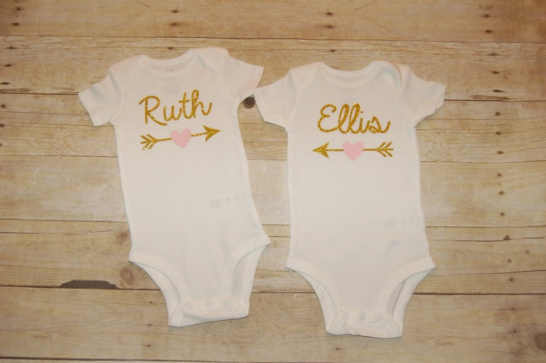 10383f80eec Personalized baby girl onesie with name or age one two three | Etsy