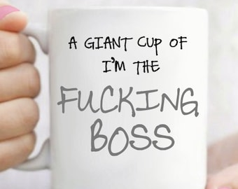 Giant Cup Of Boss Mug
