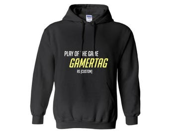 Custom Play Of The Game Hoodie - Overwatch Gift, Nerd Gift, Nerd Birthday, Gamer Gift, Sweatshirt