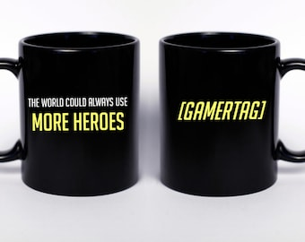 Custom Gamertag Overwatch Inspired - This World Could Always Use More Heroes, Overwatch Gift, Nerd Gift, Nerd Birthday, Gamer Gift, POTG