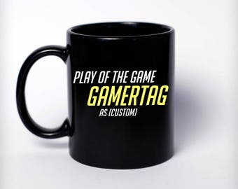 Custom Play Of The Game Mug - Overwatch Gift, Nerd Gift, Nerd Birthday, Gamer Gift