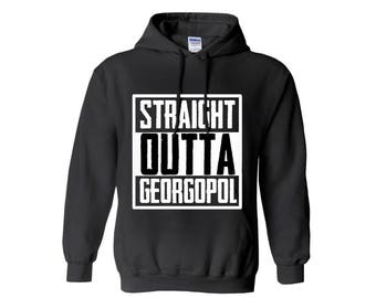 PlayerUnknown's Battlegrounds Inspired PUBG Straight Outta Georgopol Hoodie