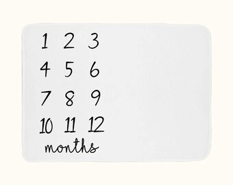 Baby Milestone Blanket - Monthly Growth - A Different Way To Document Babies Growth - Learning Gift For Expecting Mother - Unique Photo Prop