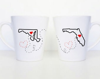 Set of 2 Simple Long Distance Mugs