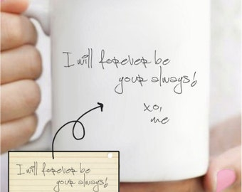 Actual Handwriting Mug - Handwritten Using Your Own Writing - Long Distance Relationship