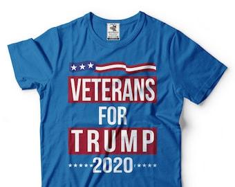 4d5e66b7 Veterans For Trump T-Shirt Election Day 2020 Political Trump Support T-Shirt