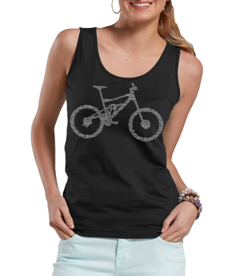 ee7c445a9933 Bicycle Part Name Tank Top Bike BMX Bike Fan Ladies Tank Top | Etsy