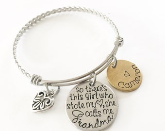 Mother's bracelet - Mother and daughter - Custom jewelry - Mommy jewelry - Hand stamped bracelet for Mother - Gift for mom - Mother of girls