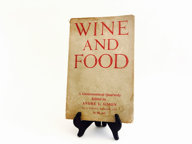 Wine And Food No.5 SPRING NUMBER 1935 Andre L. Simone A image 0