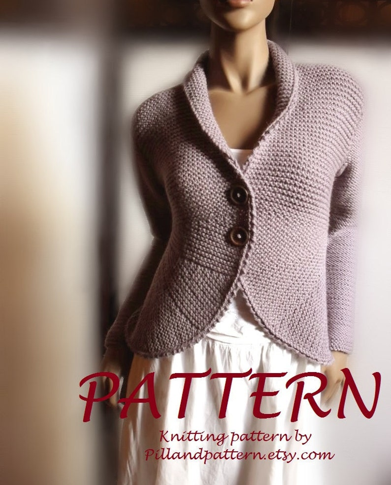 Blazer Jacket Sweater Pdf Knitting Pattern Womens Cardigan Etsy