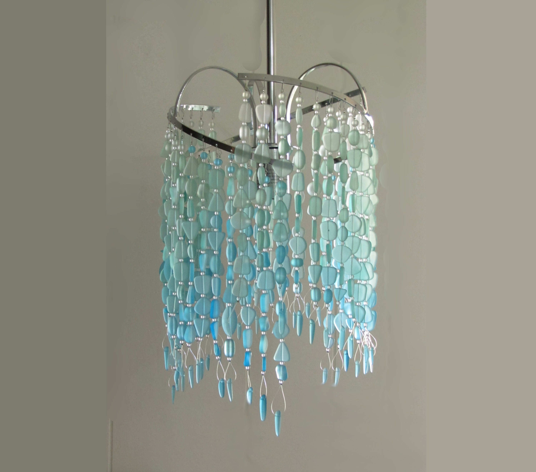 Sea Glass Pendant Hanging Light Kitchen Island Pendant Beach   Etsy