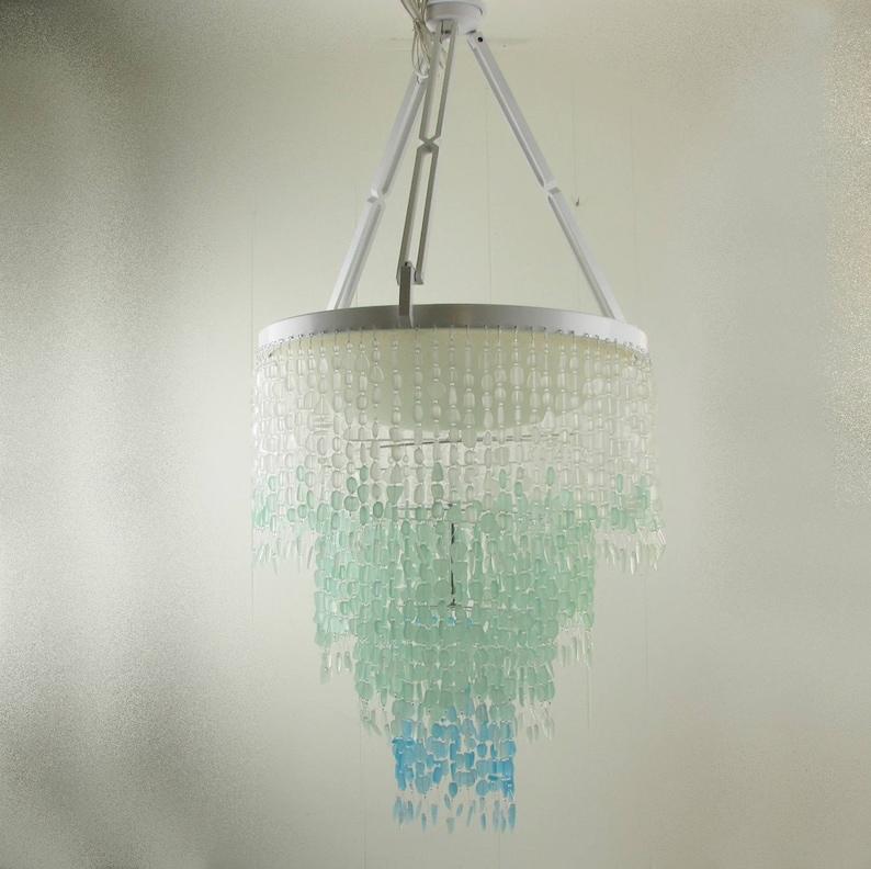 plafond clair Plage cristal verre manger éclairage salle mer côtières plage la luminaire en verre Decor lustre lustre maison à de phare en éclairage VqSMUpGz