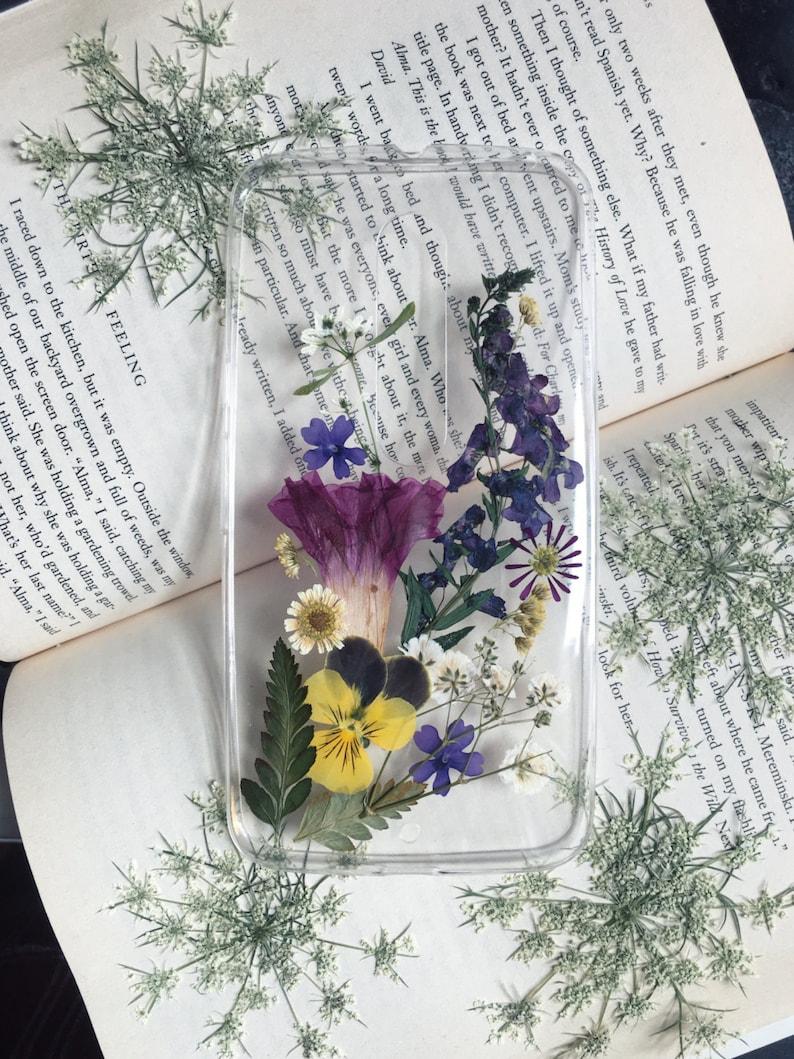 the wildflower pressed flower phone case real flowers art image 0