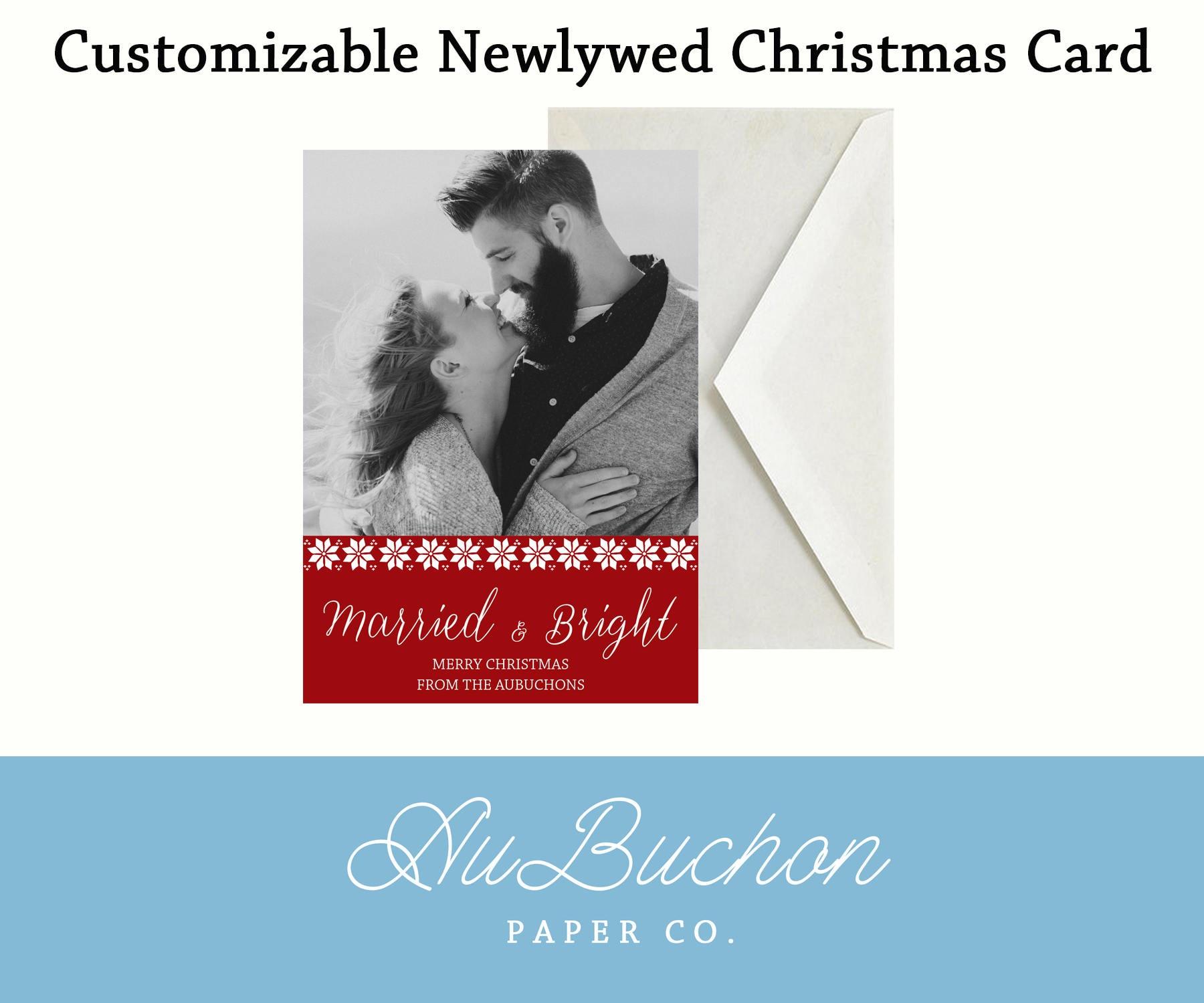 Customizable Newlywed Christmas Card