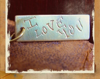 Brass Love Token or Memorial Pendant - treasure your loved one's HANDWRITING.