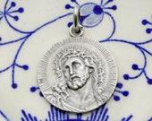 Christ. Antique Catholic Pendant.