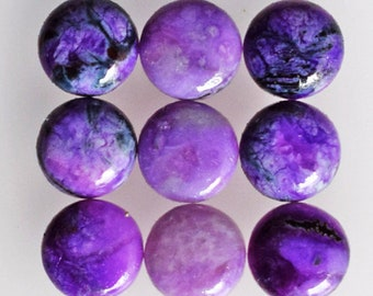 Sugilite Gemstone For Jewelry Making Dark Purple Fancy Shape Top Quality 12Ct Rare South Africa Sugilite Cabochon AG-2045