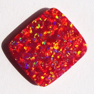Triplet Fire Opal Pair Cabochon Opal Suppliers Size 11x7x2.5 MM Red Blue Green Flashy Opal Wholesale Price AG-12222 Earring Pair Stone