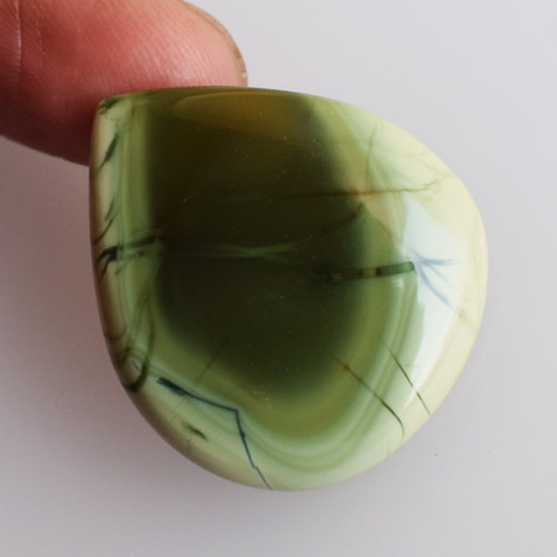 AG-10531 Loose Semi Precious Gemstone For Jewellery Making Size 29x25x4 MM Pendant Stone Beautiful Heart Shape Imperial Jasper Cabochon