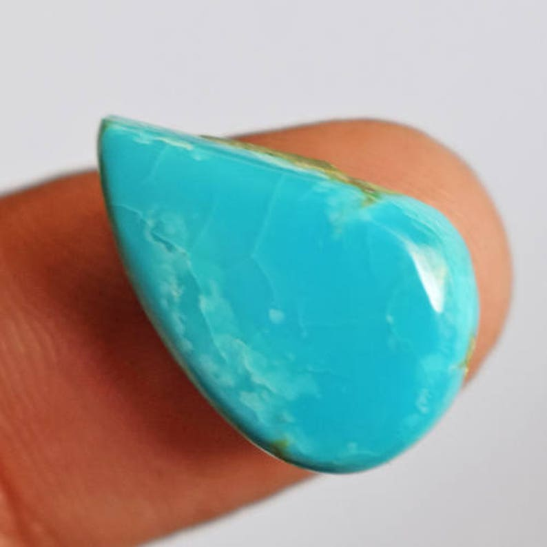 Turquoise Mines 18X11X4 MM Pendant Stone AG-6770 Gorgeous Natural Sleeping Beauty Arizona Turquoise Cabochon Designer Jewelry Gemstone