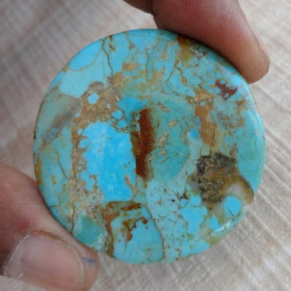 CT 39, Arizona Turquoise Cabochon, rondes, ce qui main rend Arizona bijoux Turquoise, cabochon calibré, main qui coupe Cab, concepteur Pierre, AG-1626 42a58e