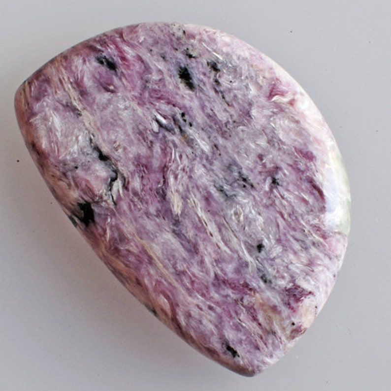 Loose Semi Precious Affordable Price AG-12836 Top Quality Genuine Purple Charoite Cabochon Size 40x28x6 MM Jewellery Making New Gemstone