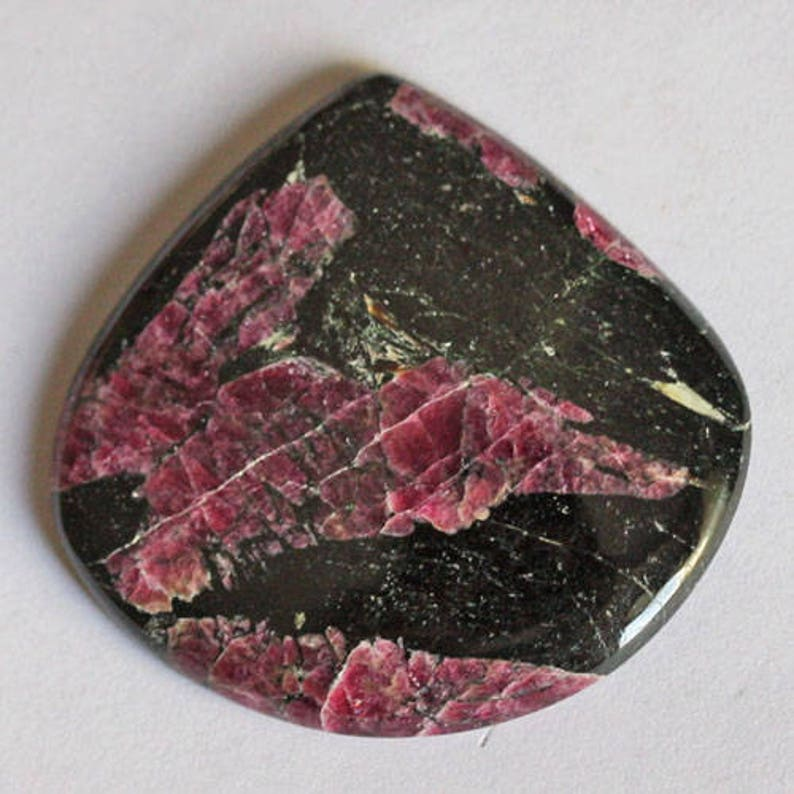 Handmade Gemstone For Pendant Jewelry Making Lovely Genuine Eudialyte Designer Cabochon Loose Semi Precious Stone AG-5933 Size 30X31X4 MM