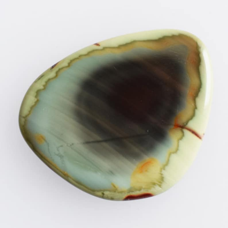 Pendant Stone Good Quality Natural Imperial Jasper Cabochon Jewellery Making Gemstone Wholesale Price AG-10607 Size 33x29x4 MM Handmade