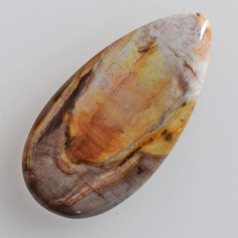 AG-13269 Jewellery Making Stone For Pendant Wholesale Price Size 36x18x5 MM Flat Back 100/% Natural Petrified Wood Pear Shape Cabochon