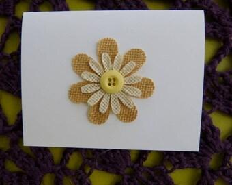 Handmade Custom Flower Note Cards